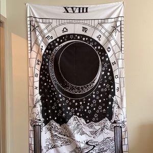 Wall Art - The Moon Zodiac Tapestry